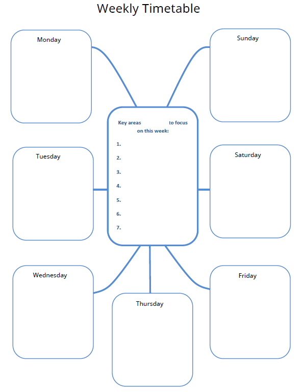 weekly timetable screenshot